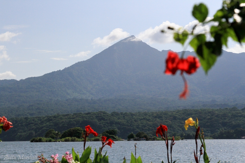 Beautiful view of Mombacho from a small island in Lake Nicaragua.