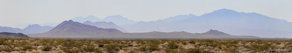 The beautiful mountains surrounding the Amargosa Valley